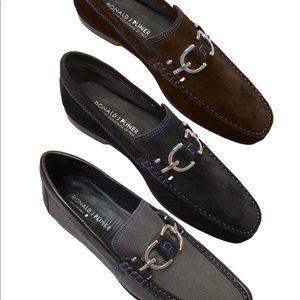 Donald J Pleiner Dacio Black leather loafers Sz 11